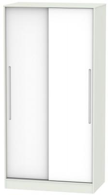 Monaco White Matt and Kaschmir 2 Door Wide Sliding Wardrobe