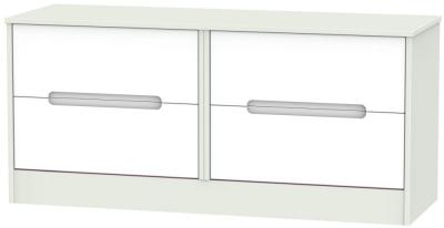 Monaco White Matt and Kaschmir 4 Drawer Bed Box