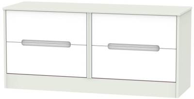 Monaco White and Kaschmir Bed Box - 4 Drawer