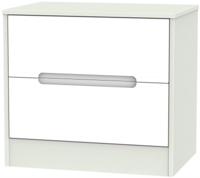Monaco 2 Drawer Midi Chest - White and Kaschmir