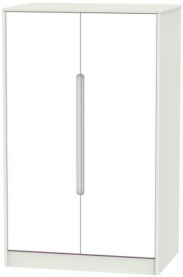 Monaco 2 Door Midi Wardrobe - White and Kaschmir