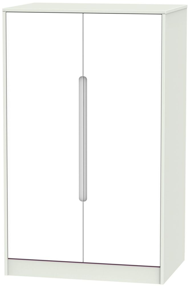 Monaco White and Kaschmir 2 Door Plain Midi Wardrobe