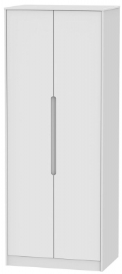 Monaco White 2 Door Tall Wardrobe