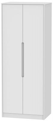 Monaco White 2 Door Tall Hanging Wardrobe