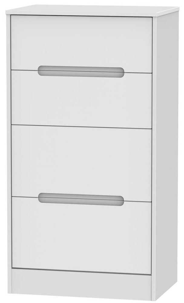 Monaco White 4 Drawer Deep Midi Chest
