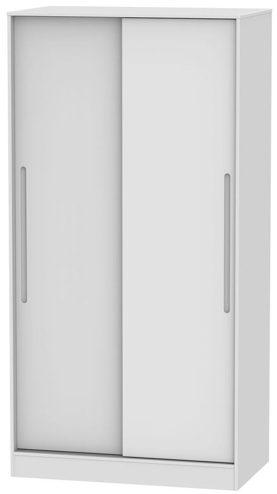 Monaco White 2 Door Sliding Wardrobe