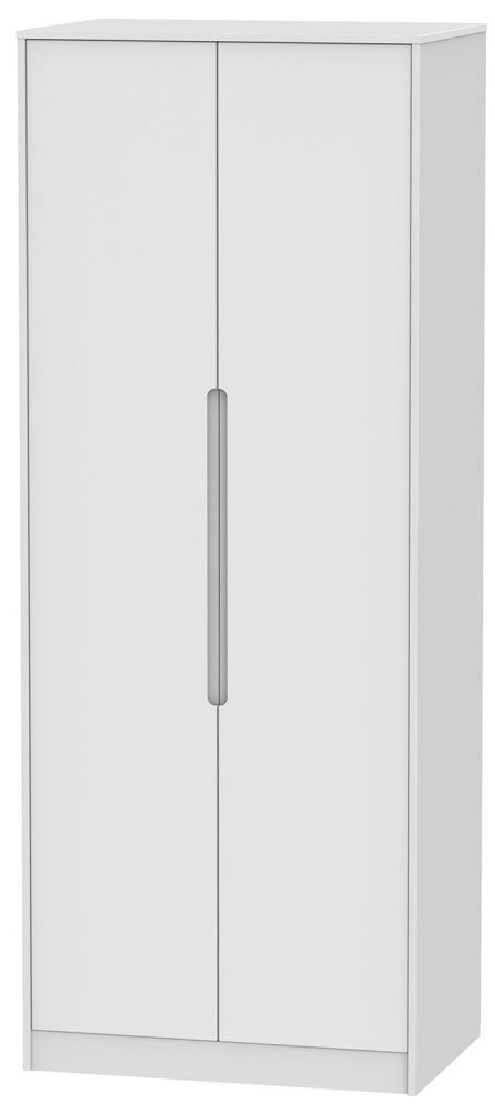 Monaco White Wardrobe - Tall 2ft 6in Plain