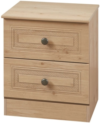 Oyster Bay Nash Oak Bedside - 2 Drawer Locker