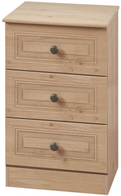 Oyster Bay Nash Oak Bedside - 3 Drawer Locker