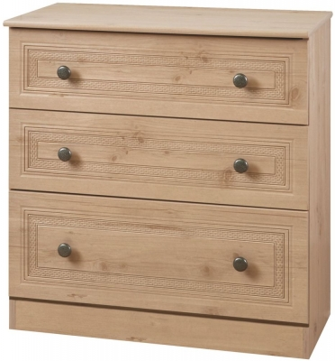 Oyster Bay Nash Oak Chest of Drawer - 3 Drawer Deep