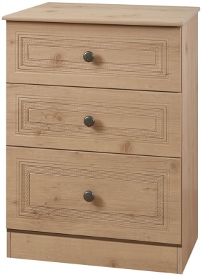 Oyster Bay Nash Oak Chest of Drawer - 3 Drawer Midi
