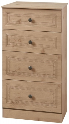 Oyster Bay Nash Oak Chest of Drawer - 4 Drawer Midi