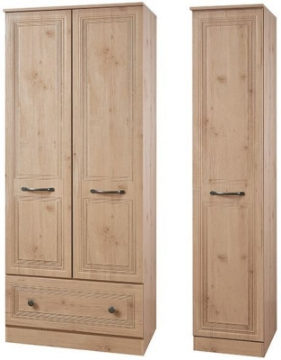 Oyster Bay Nash Oak Triple Wardrobe with Drawer
