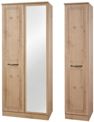 Oyster Bay Nash Oak Triple Wardrobe with Mirror