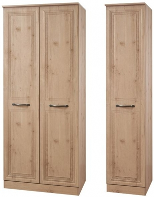 Oyster Bay Nash Oak Triple Wardrobe with Plain