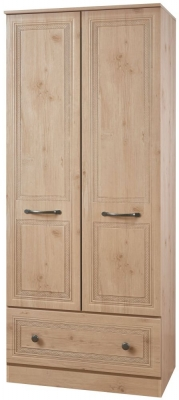 Oyster Bay Nash Oak Wardrobe - 2ft 6in with Drawer
