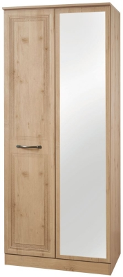 Oyster Bay Nash Oak Wardrobe - 2ft 6in with Mirror