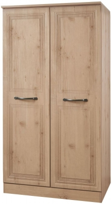 Oyster Bay Nash Oak Wardrobe - 2ft 6in with Plain Midi
