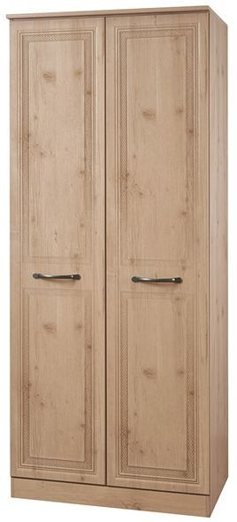 Oyster Bay Nash Oak Wardrobe - 2ft 6in with Double Hanging