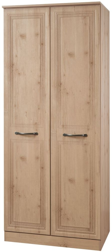 Oyster Bay Nash Oak Wardrobe - 2ft 6in with Plain