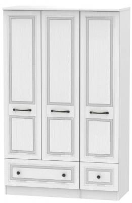 Oyster Bay Signature White 3 Door 2 Drawer Wardrobe