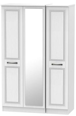 Oyster Bay Signature White 3 Door Mirror Wardrobe