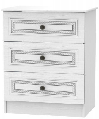 Oyster Bay Signature White 3 Drawer Deep Chest