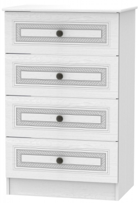 Oyster Bay Signature White 4 Drawer Deep Chest