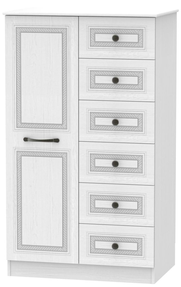 Oyster Bay Signature White 1 Door Children Wardrobe