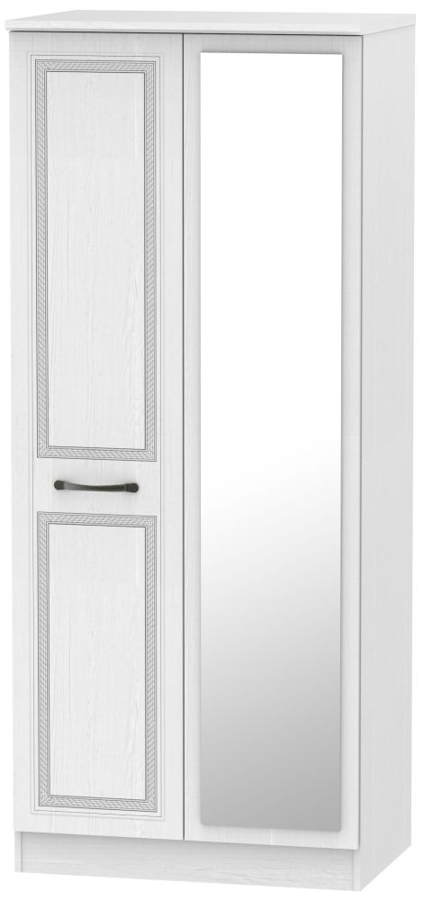 Oyster Bay Signature White 2 Door Mirror Wardrobe