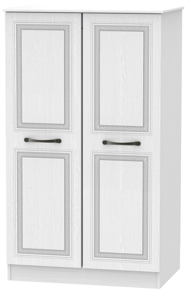 Oyster Bay Signature White 2 Door Plain Midi Wardrobe