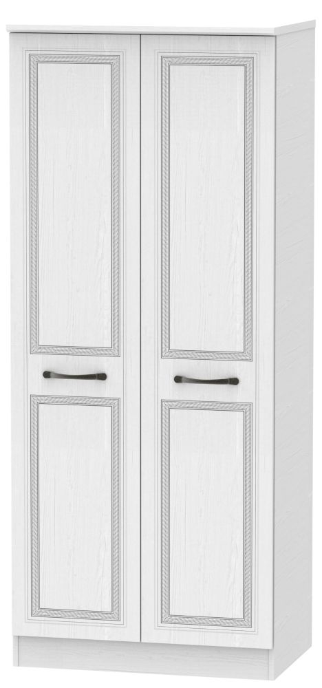 Oyster Bay Signature White 2 Door Wardrobe