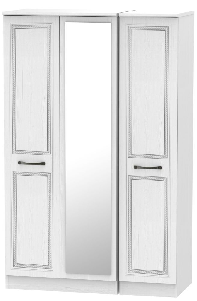 Oyster Bay Signature White 3 Door Mirror Wardrobe