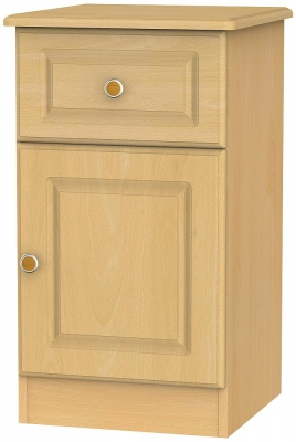 Pembroke Beech 1 Door 1 Drawer Bedside Cabinet