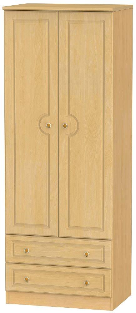 Pembroke Beech 2 Door 2 Drawer Tall Wardrobe
