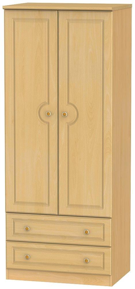 Pembroke Beech 2 Door 2 Drawer Wardrobe