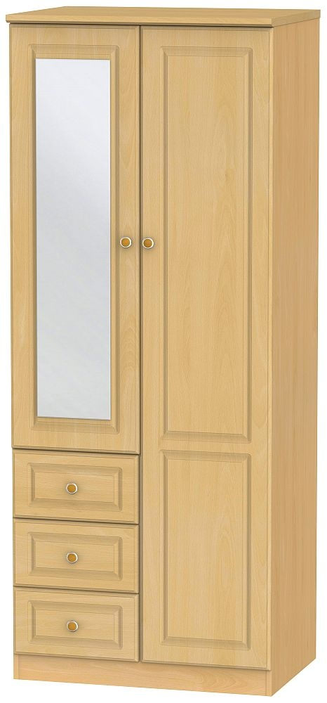 Pembroke Beech 2 Door 3 Drawer Combi Wardrobe