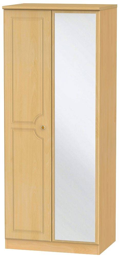 Pembroke Beech 2 Door Mirror Wardrobe