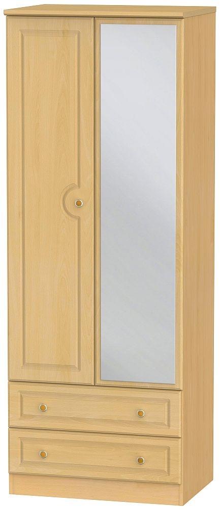 Pembroke Beech 2 Door Tall Combi Wardrobe