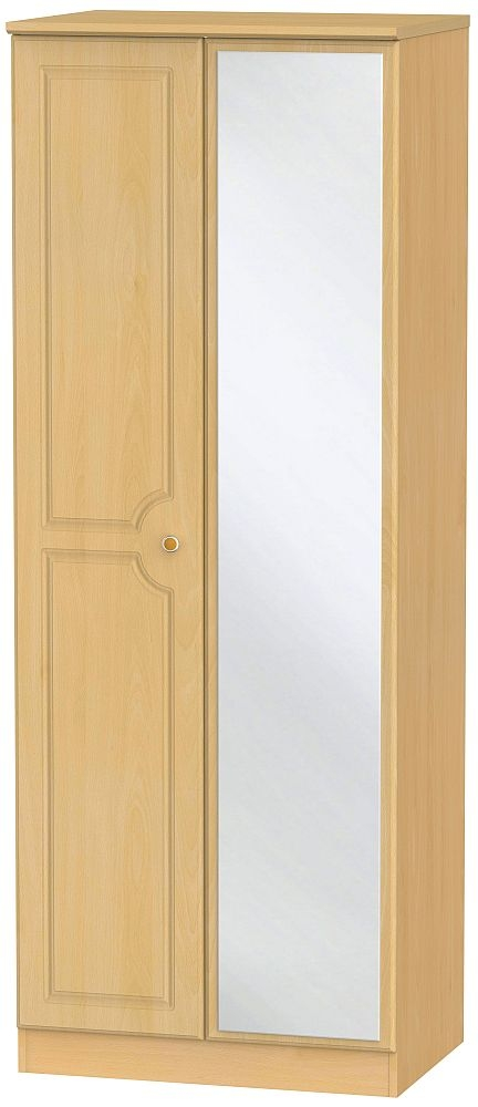 Pembroke Beech 2 Door Tall Mirror Wardrobe