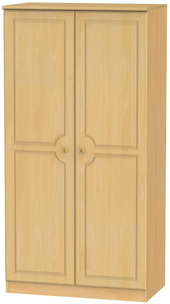 Pembroke Beech 2 Door Wide Wardrobe