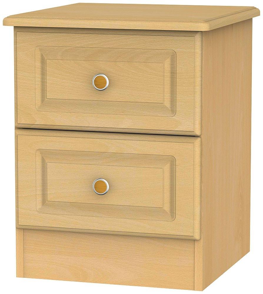 Pembroke Beech 2 Drawer Bedside Cabinet