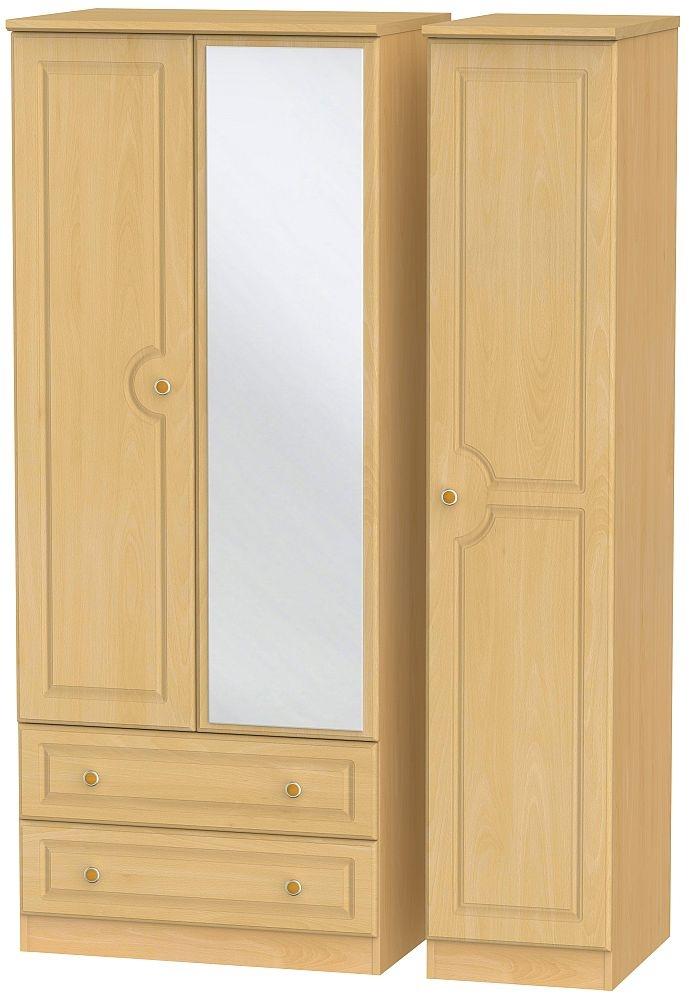 Pembroke Beech 3 Door 2 Left Drawer Combi Wardrobe