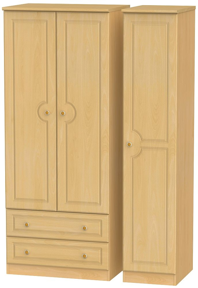 Pembroke Beech 3 Door 2 Left Drawer Wardrobe