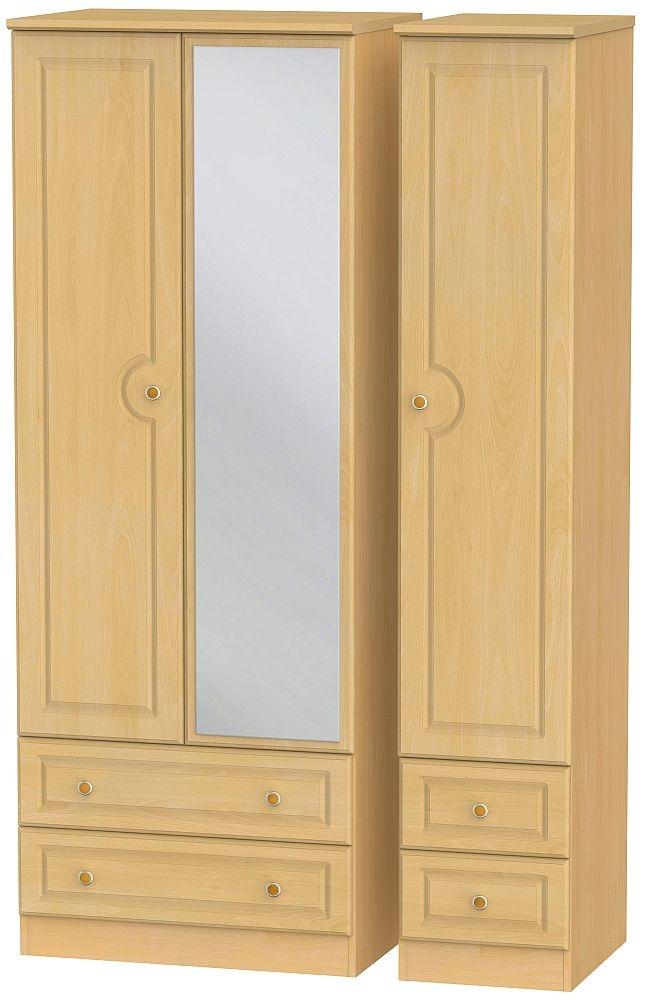Pembroke Beech 3 Door 4 Drawer Tall Combi Wardrobe