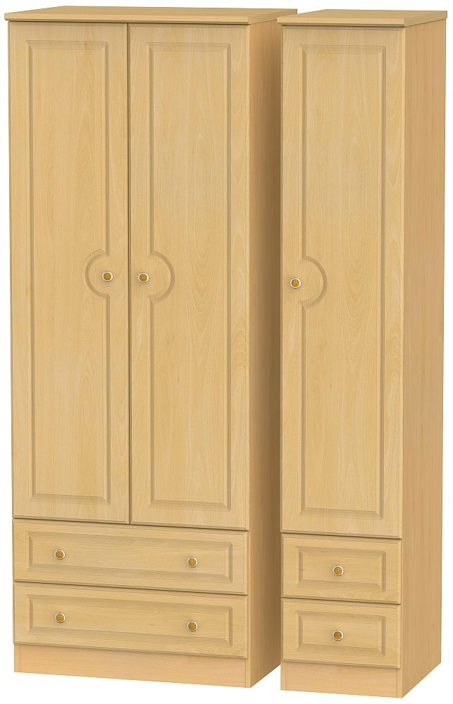 Pembroke Beech 3 Door 4 Drawer Tall Wardrobe