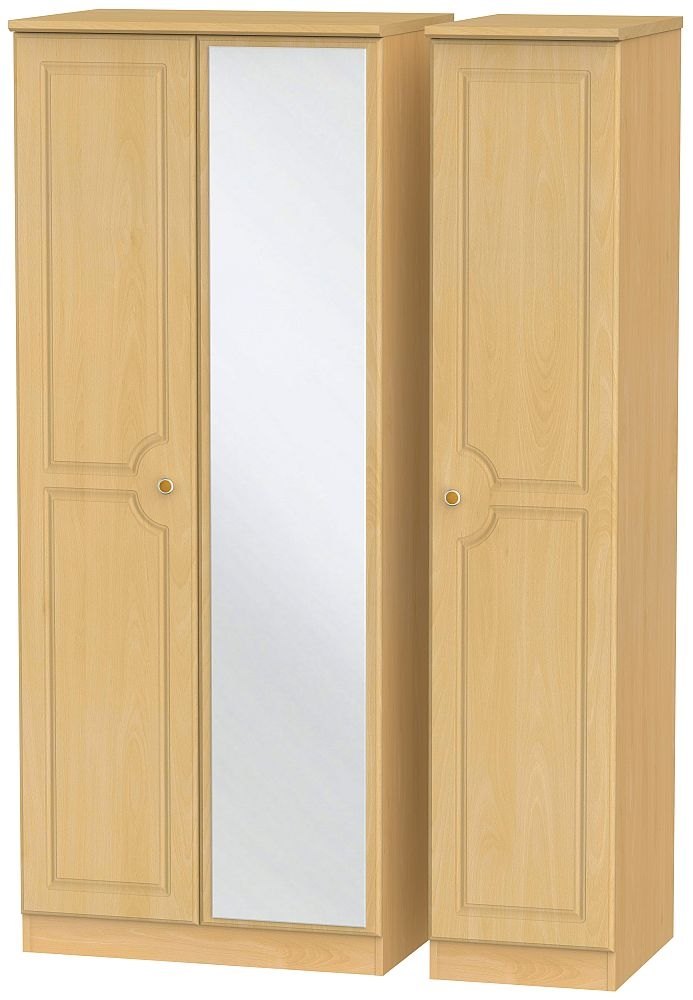 Pembroke Beech 3 Door Mirror Wardrobe