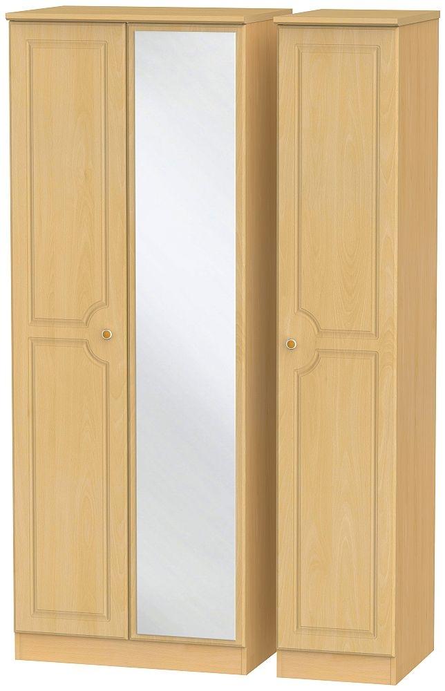 Pembroke Beech 3 Door Tall Mirror Wardrobe
