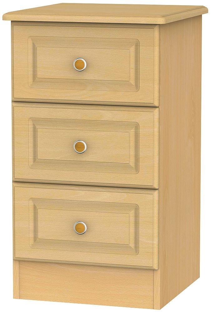 Pembroke Beech 3 Drawer Bedside Cabinet
