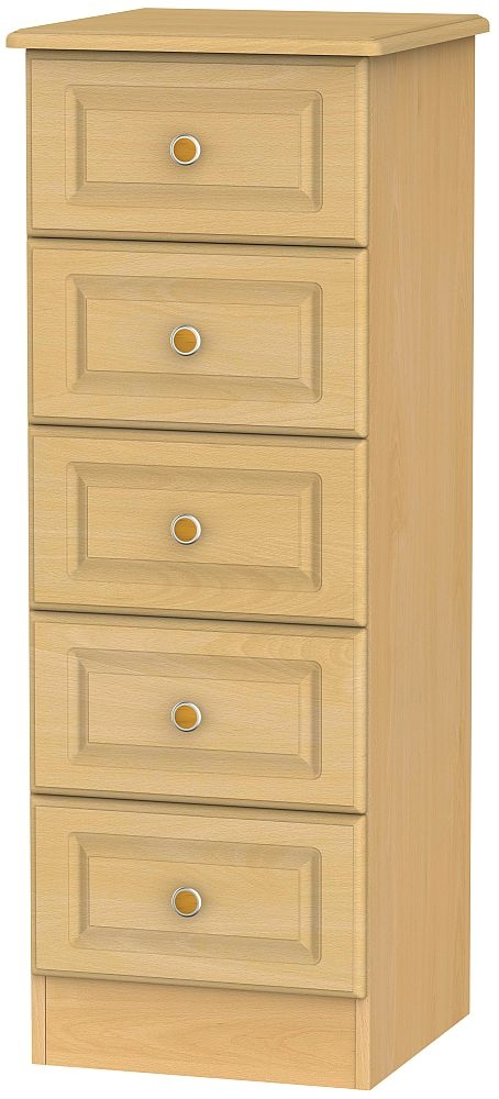 Pembroke Beech 5 Drawer Tall Chest